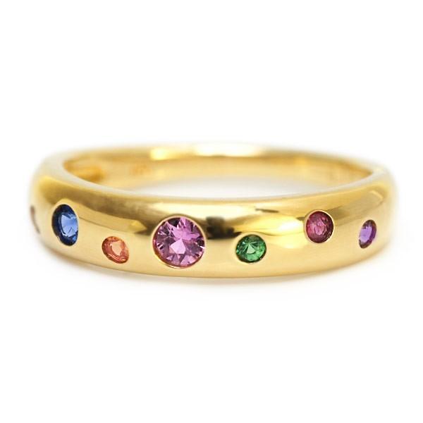 【値下げ】 リング 指輪 レディース マルチカラーサファイアドッツリング 誕生石 9月, 枕のペアレ 4459b102