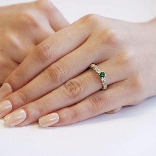 リング 指輪 レディース ロシア産デマントイドガーネット4mm ダイヤリング マッジョ 誕生石 1月|benebene|02