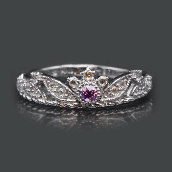 リング 指輪 限定1本 PT900 ベキリー産カラーチェンジガーネットローズカットダイヤモンド リング  #11 誕生石1月4月 サイズ変更承ります|benebene