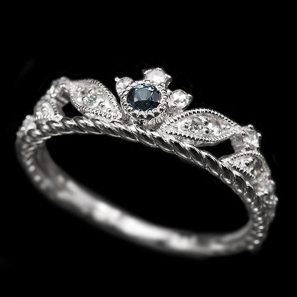 リング 指輪 限定1本 PT900 ベキリー産カラーチェンジガーネットローズカットダイヤモンド リング  #11 誕生石1月4月 サイズ変更承ります|benebene|04