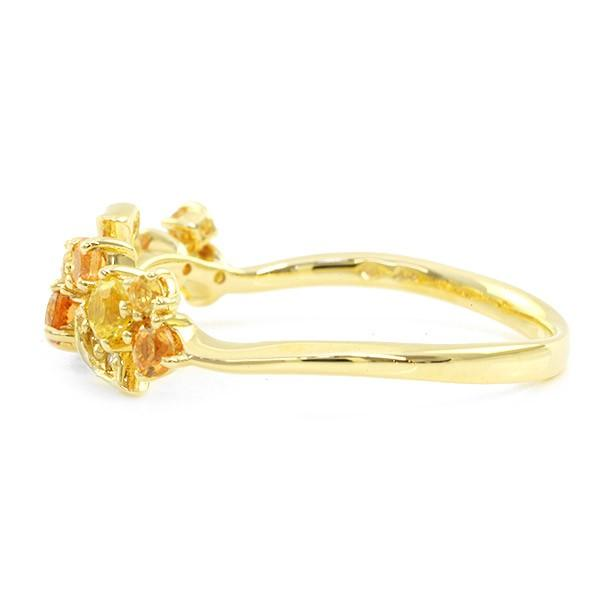 リング 指輪 レディース 金木犀色の指輪 スペサタイトガーネット イエローサファイア ダイヤモンド マルチカラーリング 誕生石 1月 9月|benebene|04