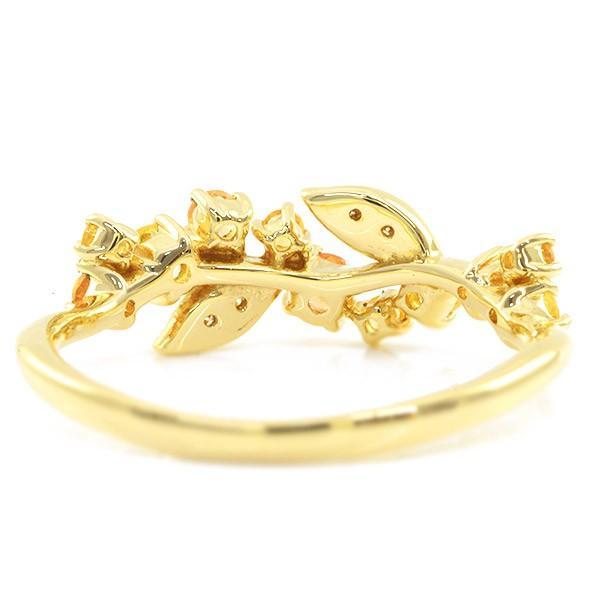 リング 指輪 レディース 金木犀色の指輪 スペサタイトガーネット イエローサファイア ダイヤモンド マルチカラーリング 誕生石 1月 9月|benebene|05