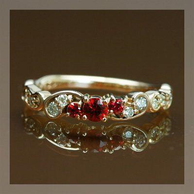 超人気高品質 リング 指輪 レディース レディッシュサファイア ダイヤモンドリング フルエンテ 誕生石 4月 9月, ガーゼの奥光 32b9eb8c