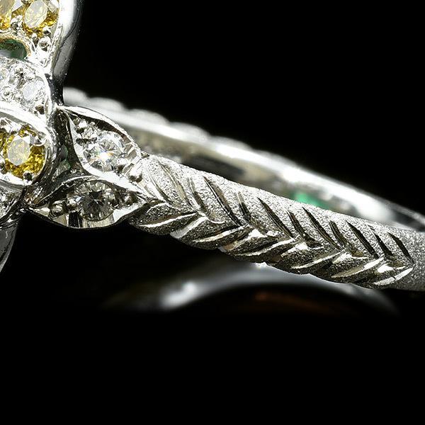 限定1本 PT900 K18YGコンビ 4.81ct コロンビア産エメラルド ゴールデンダイヤモンド ダイヤモンド リング #13 サイズはご相談ください benebene 05