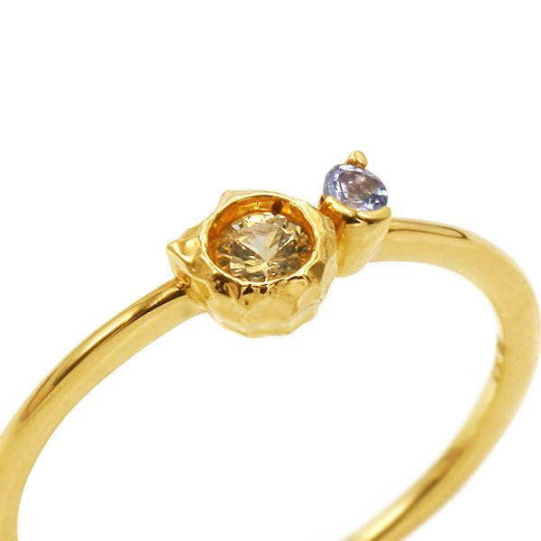 リング レディース 指輪 いつも一緒の愛猫りんぐ イエローサファイア タンザナイト リング micino ミチーノ  誕生石 9月12月 benebene 04