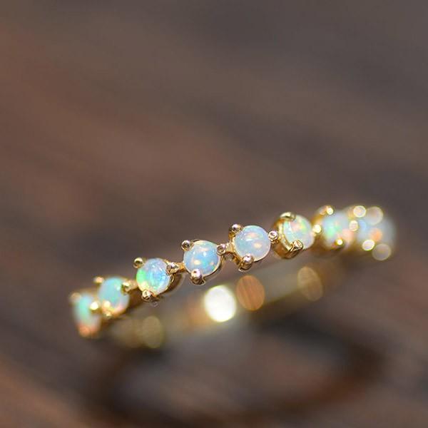 リング 指輪 レディース シンプルだから際立つ オパールリング 誕生石 10月 benebene