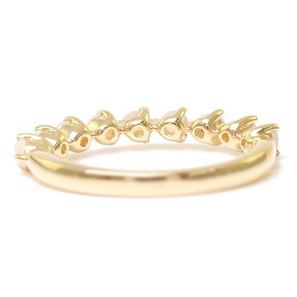 リング 指輪 レディース シンプルだから際立つ オパールリング 誕生石 10月 benebene 06