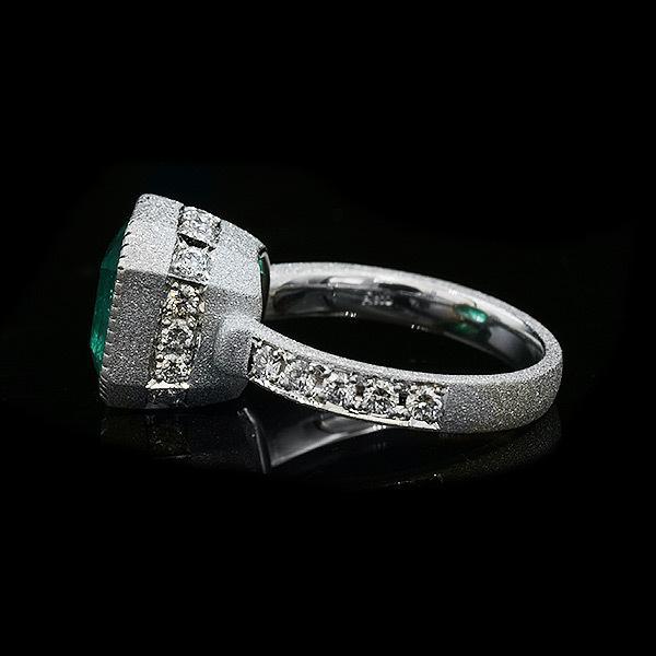 限定1本 PT900 4.55ct コロンビア産エメラルド ダイヤモンド リング #12 サイズはご相談ください|benebene|03