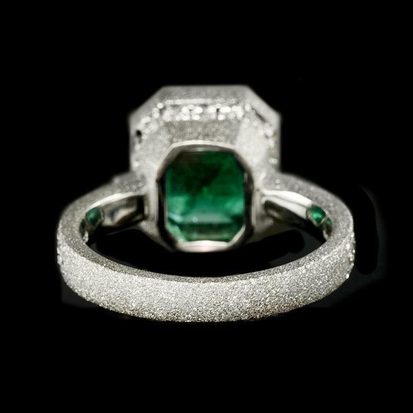 限定1本 PT900 4.55ct コロンビア産エメラルド ダイヤモンド リング #12 サイズはご相談ください|benebene|05