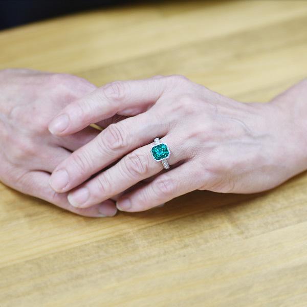 限定1本 PT900 4.55ct コロンビア産エメラルド ダイヤモンド リング #12 サイズはご相談ください|benebene|06