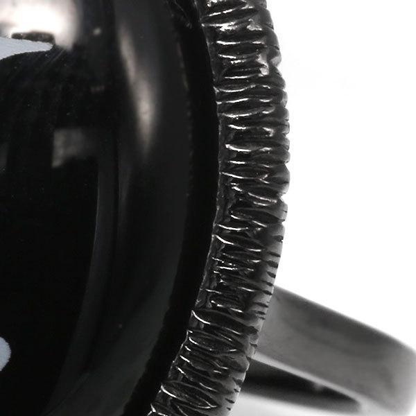 指輪 リング レディース SV925 ブラックメッキ ロジウムメッキ オニキスアルファベット イニシャル リング 指輪 benebene 03