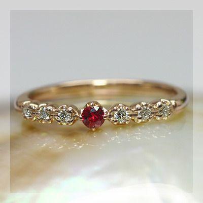 訳あり リング 指輪 レディース レディッシュサファイア&ダイアモンドシンプルリング 誕生石 9月, 韓グルメ ad84812f