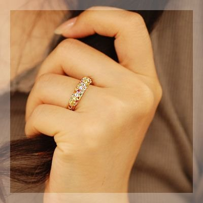 リング 指輪 レディース アルルカン マルチカラーパヴェリング シャーベット|benebene|02