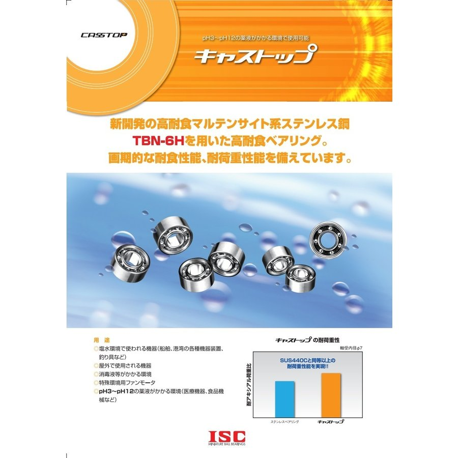 高耐食ベアリング SMR74A2-H-X1ZZ(DDL-740ZZ 同寸法)|benet|02