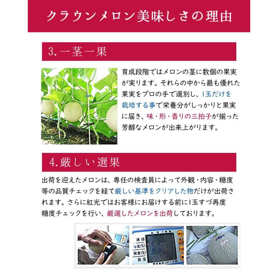 静岡産 クラウンメロン 大玉 1玉 1.4kg前後 マスクメロン フルーツ ギフト 内祝  果物|benikou|04