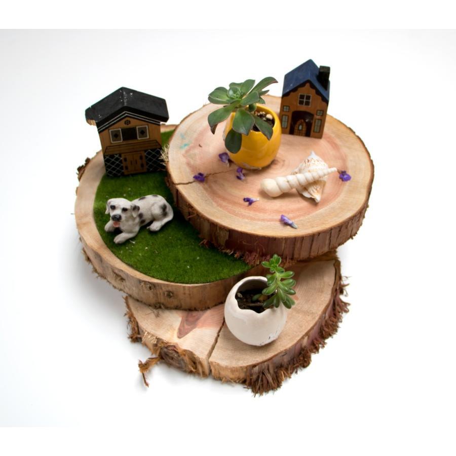 丸太の輪切り  Sサイズ2枚セット 約直径18x厚さ3cm 川島材木店 ディスプレイ レイアウト 披露宴 結婚式 食材ディスプレイ DIY|beniyamokuzaicom|07