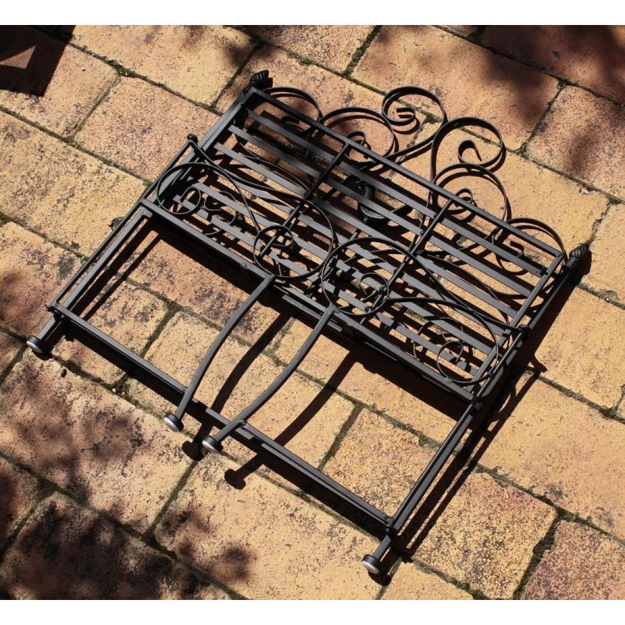 ガーデニング フラワースタンド 折りたたみ式 ベンチ フラワー 花台 約24×44×48.5cm