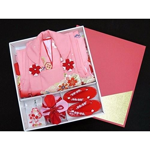 七五三 着物 和がままブランド3歳女の子お祝い着物6点セット「ピンク、鞠と雲」WG-J301