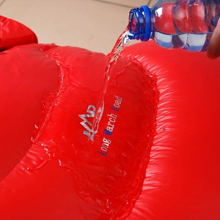 高級ダウン寝袋 マミー型 コンパクト収納シュラフ スリーピング登山 アウトドア 防災用 避難用 防水 最低使用温度-15度