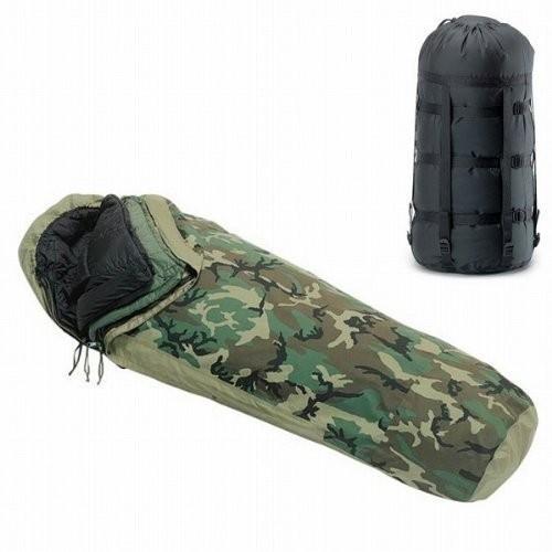 実物 新品 米軍GORE-TEX Improved Modular Sleeping Bag System ウッドランドカモ (camouf