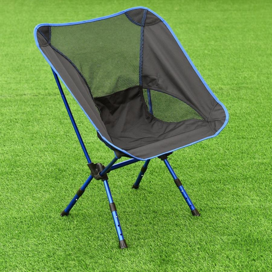 Giantex アルミ ハイキング キャンプ チェア フィッシングシート スツール アウトドア 折りたたみ ポータブル バッグ付き