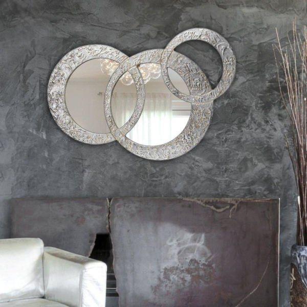 デコラティブなルームミラー モダンデザインのアートパネル CIRCLES PICCOLA P3698 P3698 イタリア直輸入