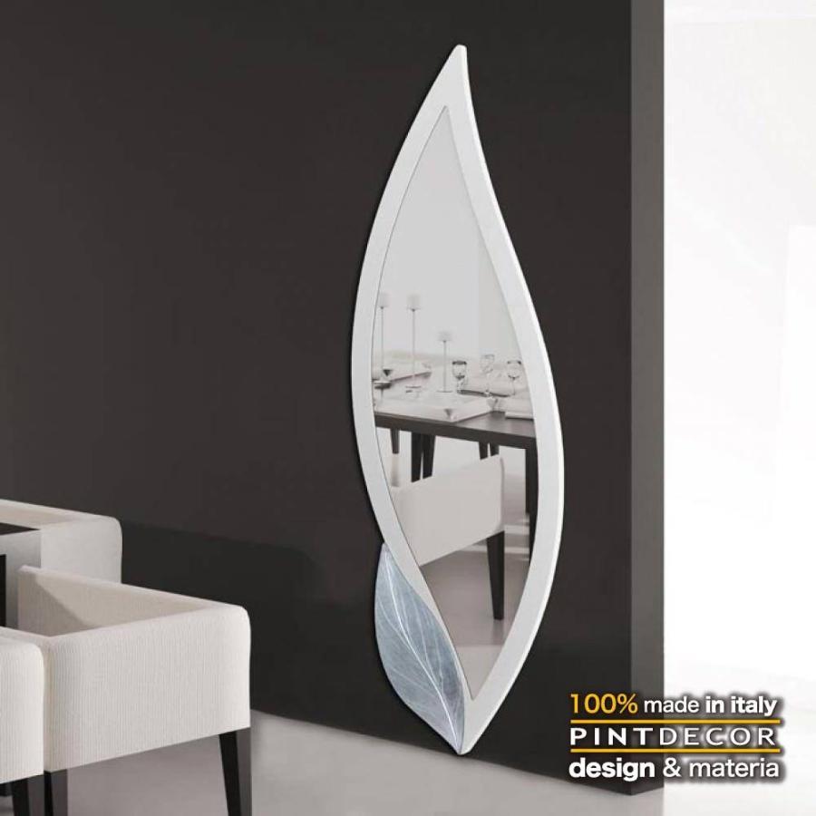デコラティブなルームミラー デコラティブなルームミラー モダンデザインのアートパネル PETALO BIANCO P4252 イタリア直輸入