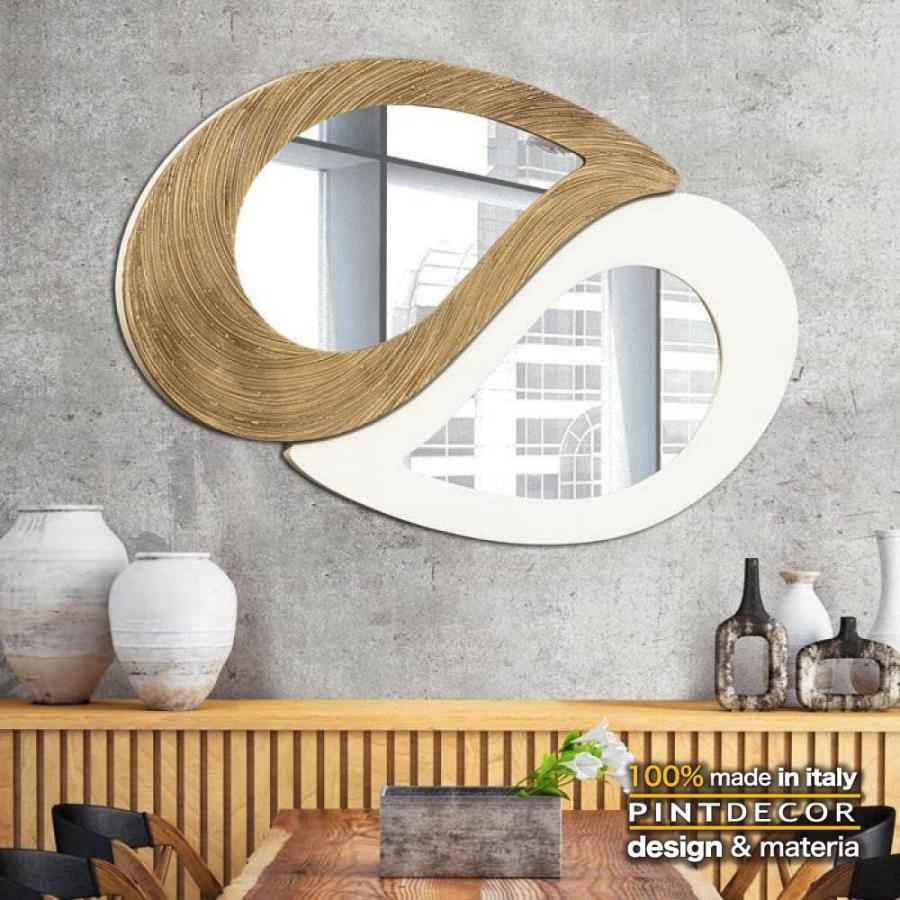 デコラティブなルームミラー モダンデザインのアートパネル モダンデザインのアートパネル TAO BAMBU' P4664 イタリア直輸入