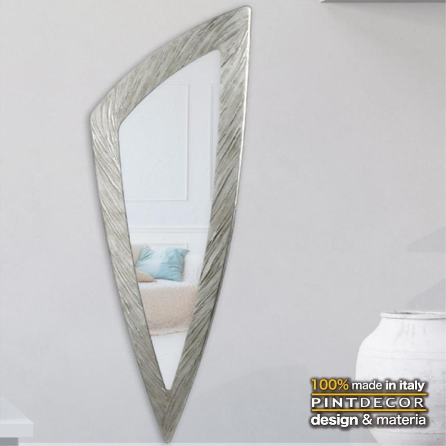 デコラティブなルームミラー モダンデザインのアートパネル SELCE 銀 銀 P4716 イタリア直輸入