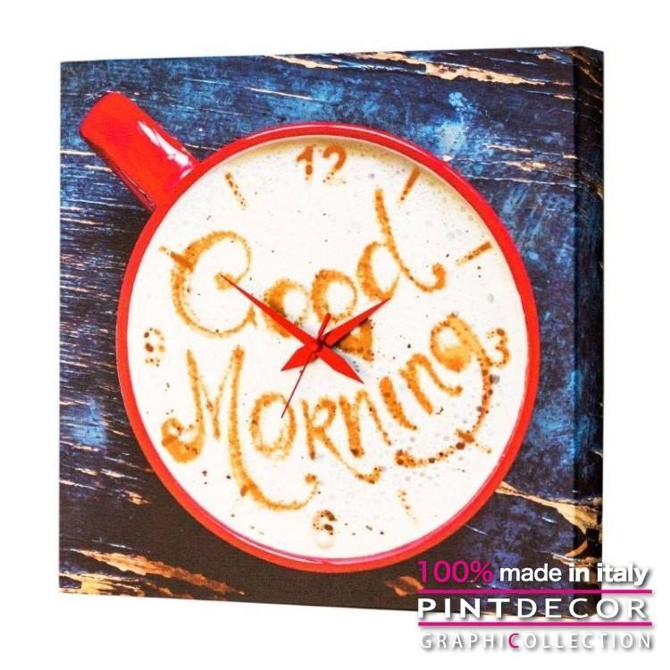 ウォールクロック クロック アート グラフィコレクション モダンアート イタリア直輸入 GOOD MORNING G1722 [在庫有り]