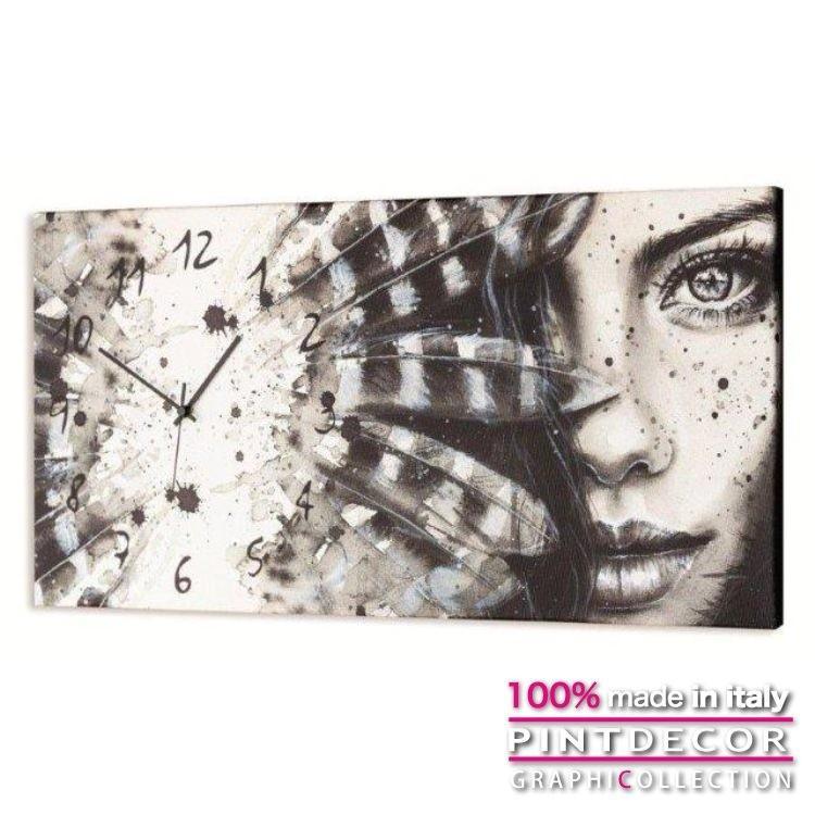 ウォールクロック クロック アート グラフィコレクション モダンアート イタリア直輸入 CHEROKEE GIRL G2490