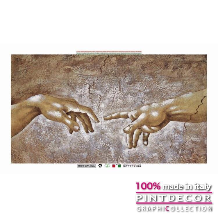 デコレーションパネル アートパネル ペインティング グラフィコレクション モダンアート イタリア直輸入 DETTAGLIO LA CREAZIONE G6022