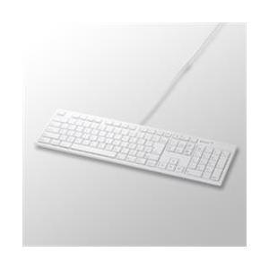 バッファロー BSKBM01WH ホワイト Macモデル 格安 日本 USB接続 有線キーボード