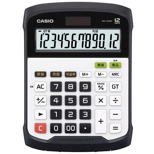 CASIO WD-320MT(ホワイト) 卓上電卓 12桁 防水・防塵タイプ