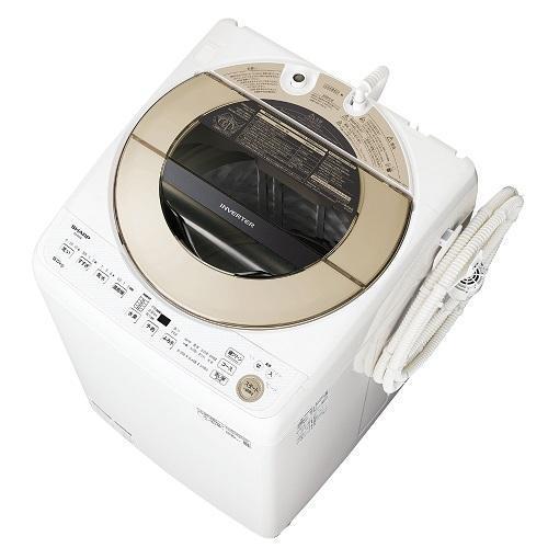 シャープ ついに再販開始 ES-GV9E-N ゴールド系 人気 おすすめ 全自動洗濯機 上開き 洗濯9kg
