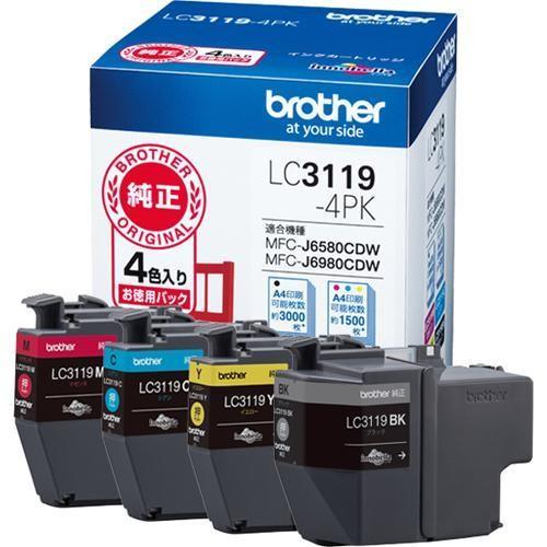 ブラザー LC3119-4PK 純正 お徳用4色パック 大容量タイプ