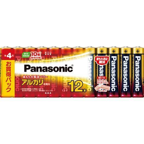 パナソニック LR03XJ/12SW アルカリ乾電池 単4形 12本パック