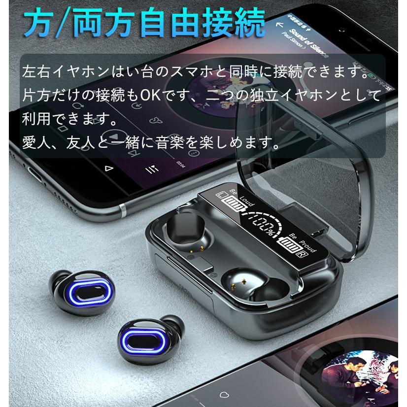 ワイヤレスイヤホン 最新型 ブルートゥースイヤホン Bluetooth5.1 両耳/方耳  iPhone Android対応 スマホ充電 高音質 スポーツ防水 人間工学設計 ギフト bestlife-os 12