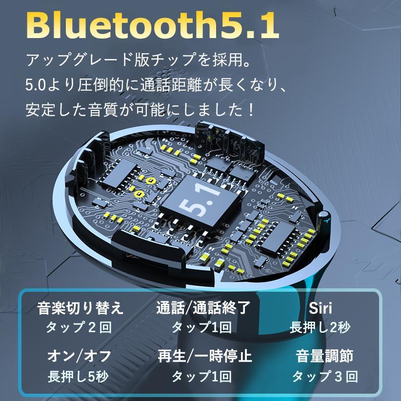 ワイヤレスイヤホン 最新型 ブルートゥースイヤホン Bluetooth5.1 両耳/方耳  iPhone Android対応 スマホ充電 高音質 スポーツ防水 人間工学設計 ギフト bestlife-os 14