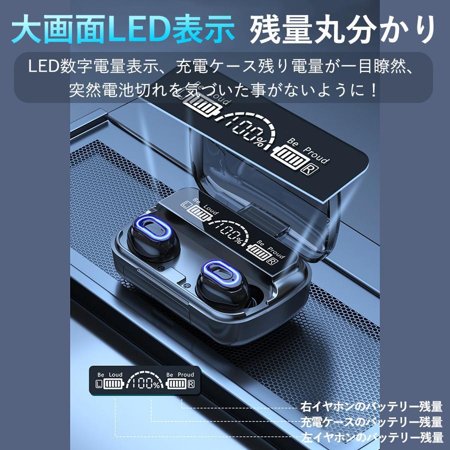 ワイヤレスイヤホン 最新型 ブルートゥースイヤホン Bluetooth5.1 両耳/方耳  iPhone Android対応 スマホ充電 高音質 スポーツ防水 人間工学設計 ギフト bestlife-os 03