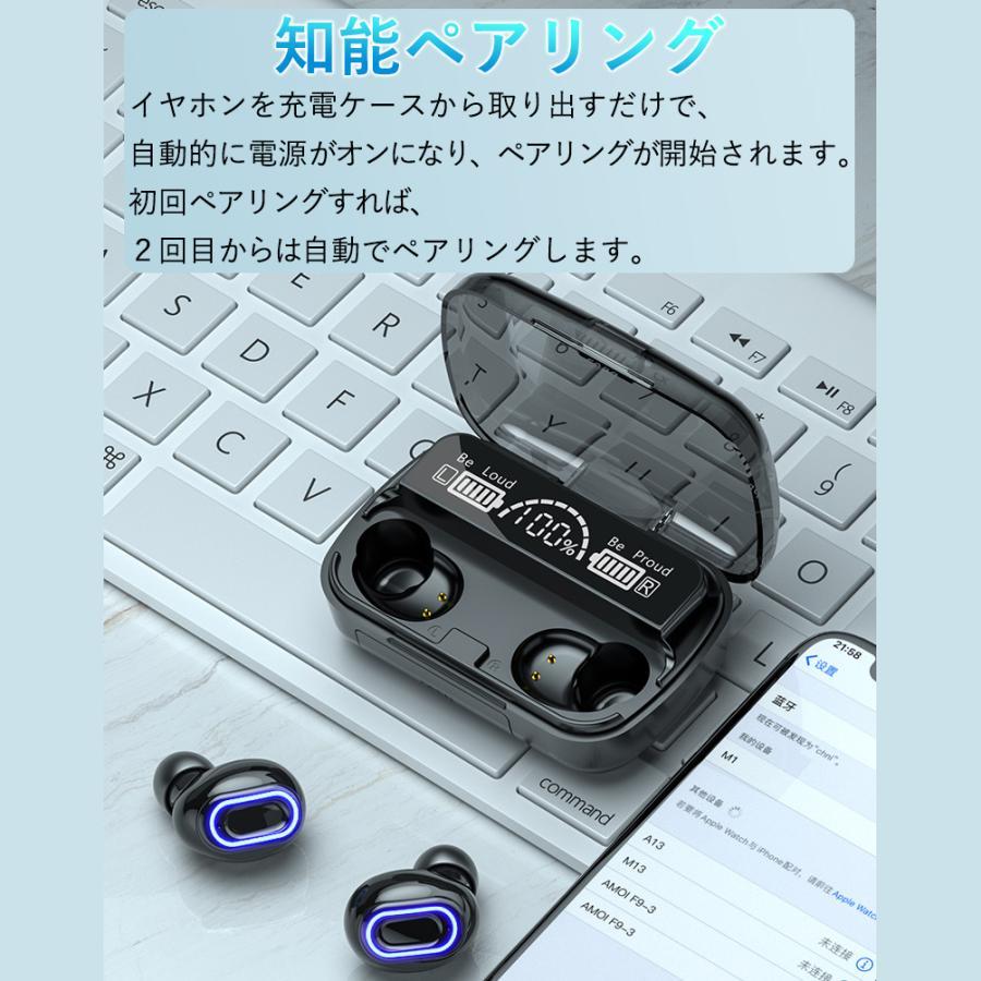 ワイヤレスイヤホン 最新型 ブルートゥースイヤホン Bluetooth5.1 両耳/方耳  iPhone Android対応 スマホ充電 高音質 スポーツ防水 人間工学設計 ギフト bestlife-os 04