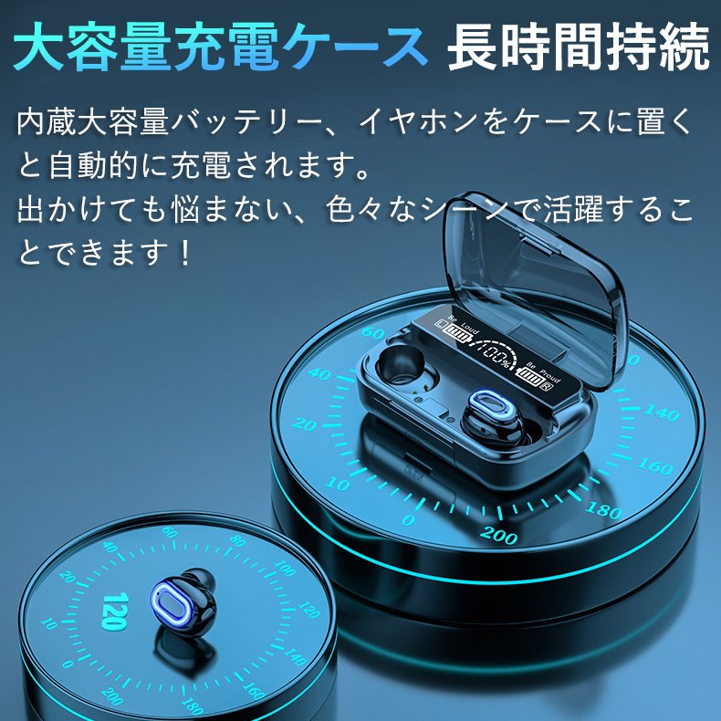 ワイヤレスイヤホン 最新型 ブルートゥースイヤホン Bluetooth5.1 両耳/方耳  iPhone Android対応 スマホ充電 高音質 スポーツ防水 人間工学設計 ギフト bestlife-os 06