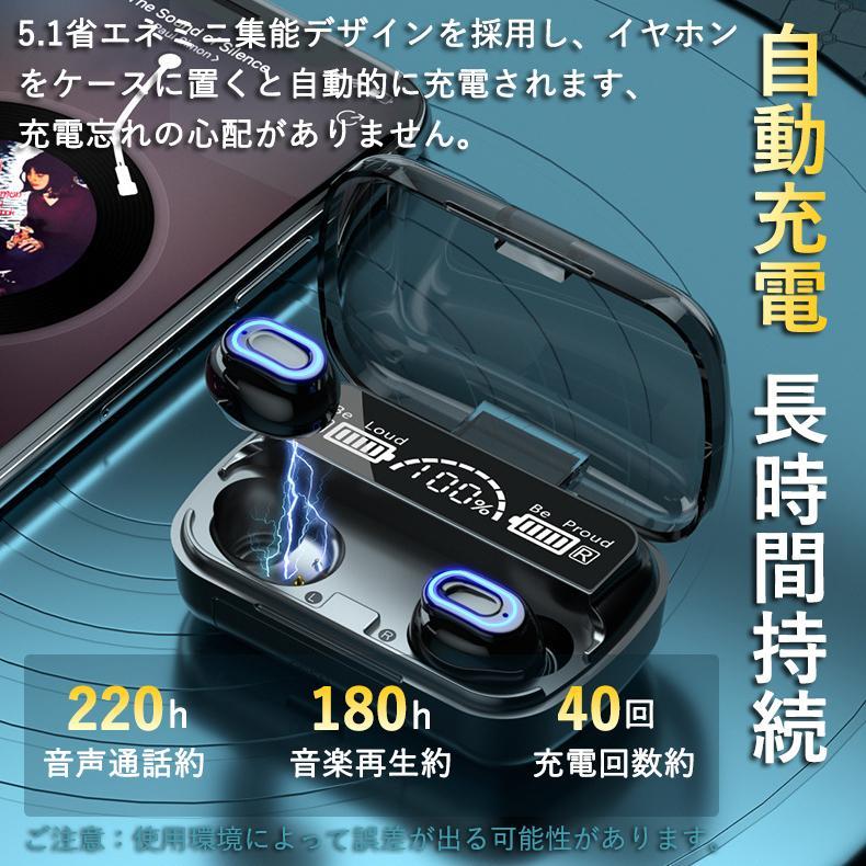 ワイヤレスイヤホン 最新型 ブルートゥースイヤホン Bluetooth5.1 両耳/方耳  iPhone Android対応 スマホ充電 高音質 スポーツ防水 人間工学設計 ギフト bestlife-os 08