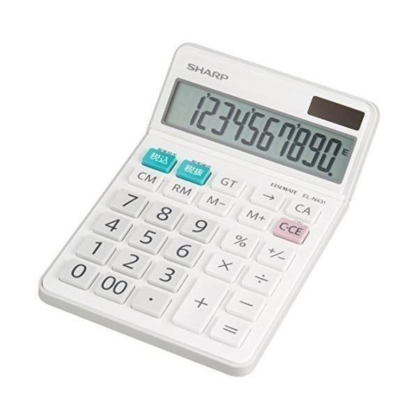 シャープ 電卓 ナイスサイズタイプ EL-N431-X SHARP 卸売り 10桁 激安卸販売新品