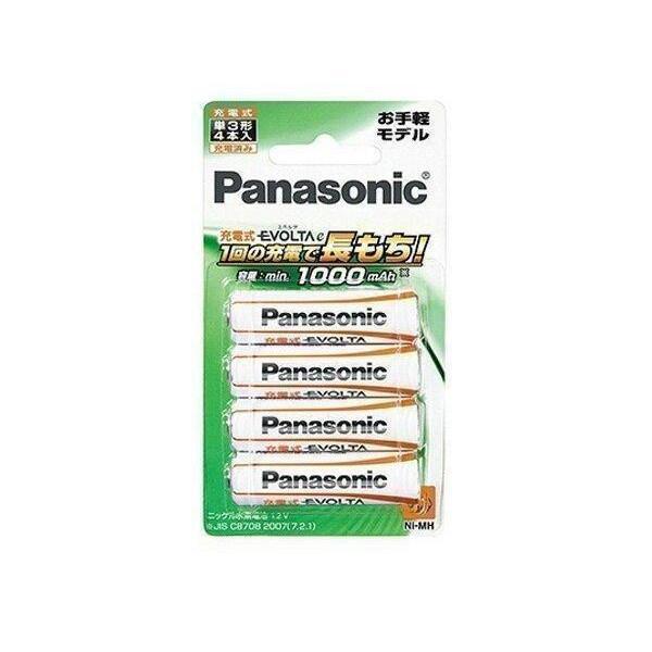 [宅送] Panasonic 出荷 BK-3LLB 4B パナソニック BK-3LLB4B 単3形充電池 充電式EVOLTA 単三電池 お手軽モデル 4本パック