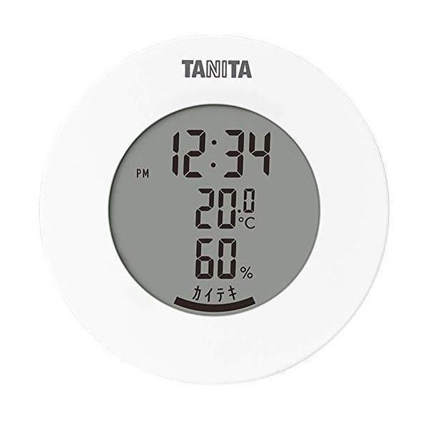 タニタ TT-585 爆買い送料無料 WH 待望 ホワイト 温湿度計 温度 時計付き マグネット 卓上 デジタル 湿度