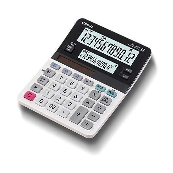 カシオ MV-220W-N ツイン液晶電卓 ミニジャストタイプ 12桁 CASIO