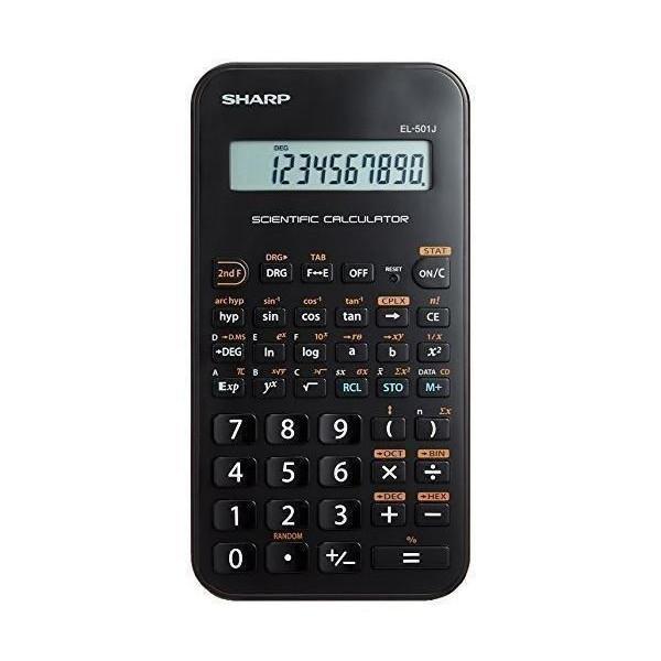 シャープ ◆高品質 EL-501JX 関数電卓 68関数機能 爆安 スライド式ハードケースタイプ SHARP ライン表示