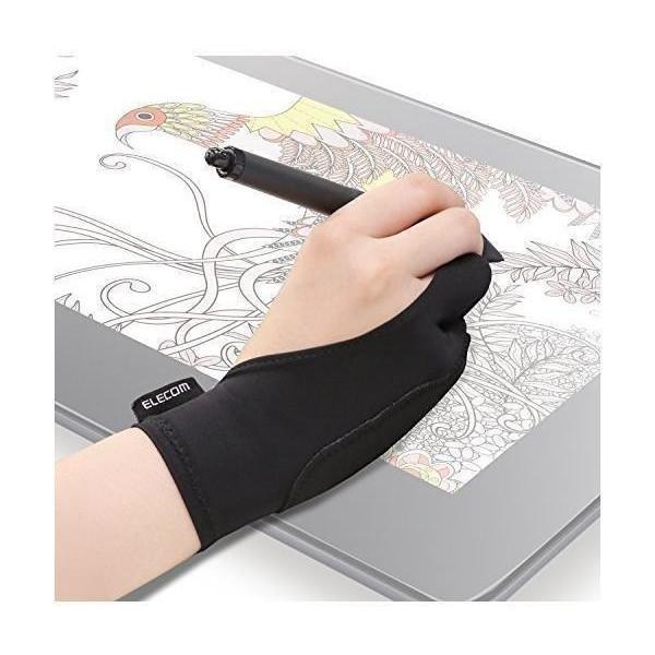 エレコム TB-GV2M 液晶タブレット グローブ 2本指 割引も実施中 日本正規品 左利き右利き両用 手袋 Mサイズ 誤動作防止機能付 ELECOM
