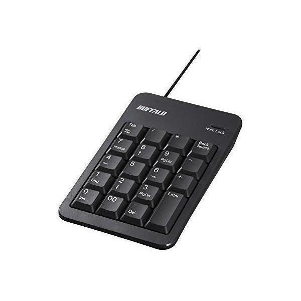 バッファロー BSTK100BK 有線テンキーボード Tabキー付き クリアランスsale 期間限定 BUFFALO ブラック 豊富な品